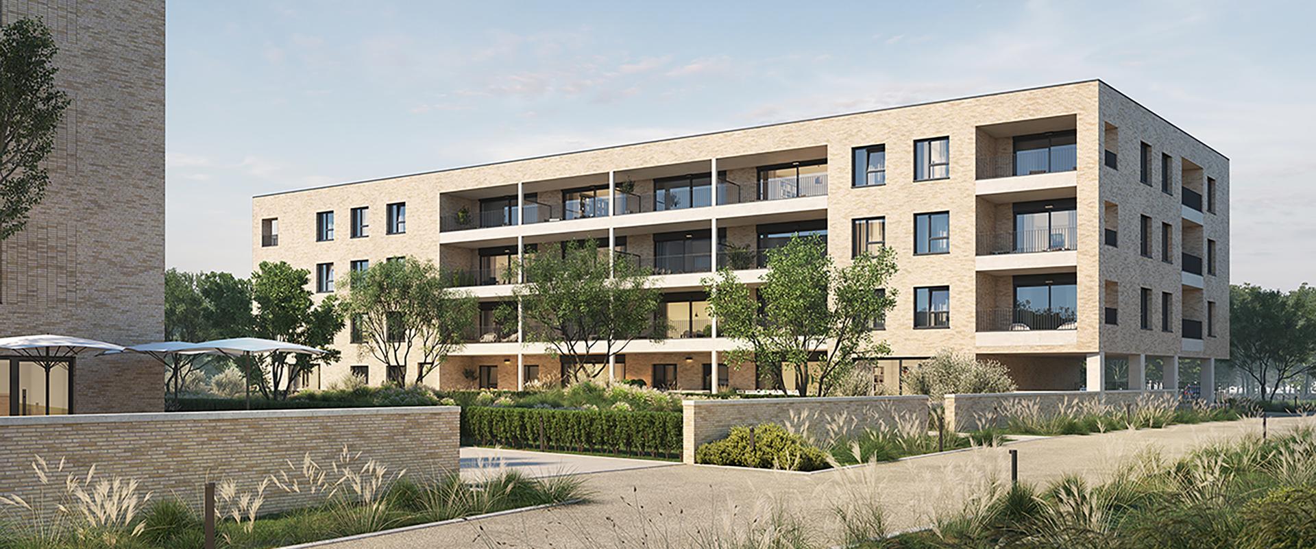 Residentie Philyra in de nieuwe woonwijk Borgerwijk